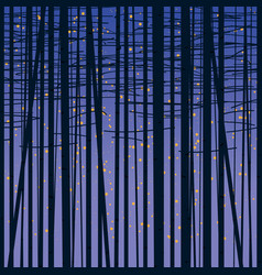 birch grove background against the dark sky vector image vector image