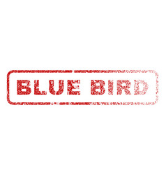 blue bird rubber stamp vector image vector image