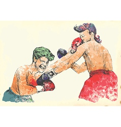 Boxing match vector