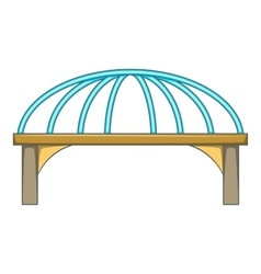 Bridge with steel supports icon cartoon style vector