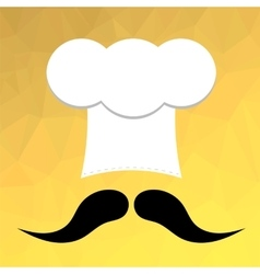 Chef Hat and Mustaches vector image