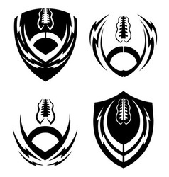 Football icon emblems set vector