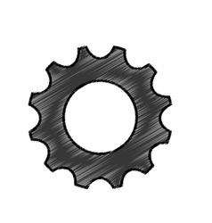 Gear cog wheel vector image