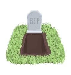 Grave icon in cartoon style isolated on white vector