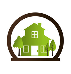 Home ecology green icon vector