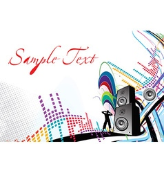 music composition vector image