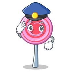 police cute lollipop character cartoon vector image vector image