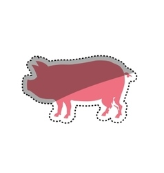 Pork silhouette meal vector image vector image