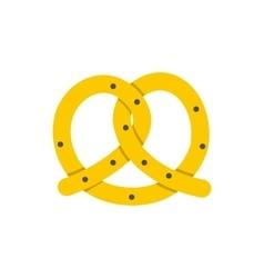Pretzel for Oktoberfest icon flat style vector image vector image