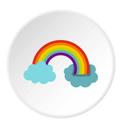 Rainbow in lgbt color icon circle vector