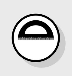 Ruler sign flat black icon vector