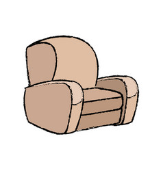 Sofa armchair comfort furniture icon vector