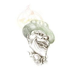 spooky clown vector image