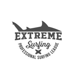 vintage surfing label badge and emblem vector image vector image