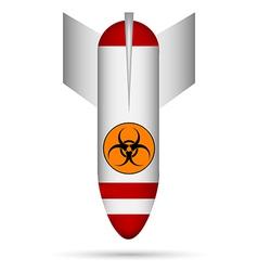 White biohazard bomb vector image