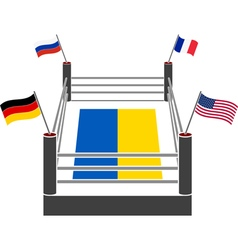 fight ring of ukraine vector image