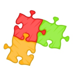 Puzzle piece icon cartoon style vector