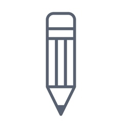 pencil school supply isolated icon vector image