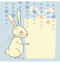 Easter rabbit background vector