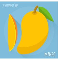 Mango icon vector