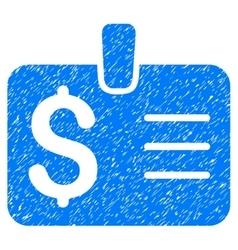 Dollar Badge Grainy Texture Icon vector image