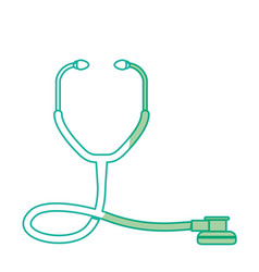 Silhouette medical stethoscope to check cardiac vector