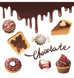 new chocolate vector image