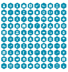 100 national holiday icons sapphirine violet vector