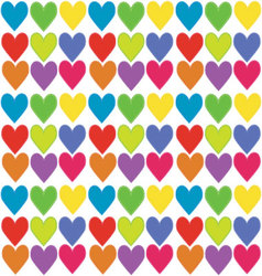 Heart background pattern vector