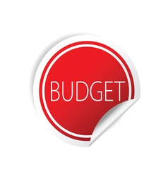 Budget sticker red vector