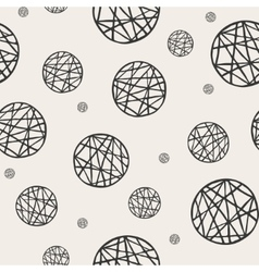 Seamless pattern with sketch circles vector