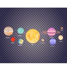 Solar system on transparecy vector