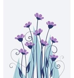 Wild flowers vector