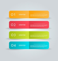 Business infographics tabs template for vector