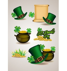 St patricks day symbols vector