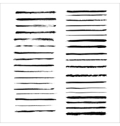 Grunge brushes set vector