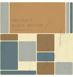 abstract block design vector image vector image