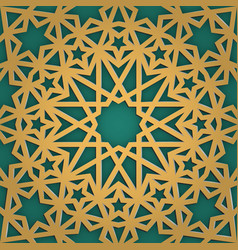 arabic ornament seamless pattern geometrical vector image