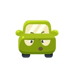 Arguing green car emoji vector