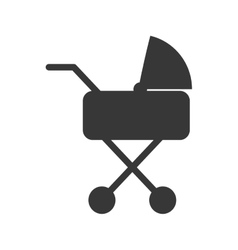 Baby carriage silhouette vector