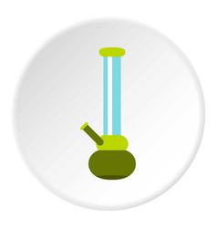 Bong for smoking icon circle vector