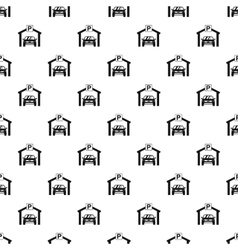 Car parking pattern simple style vector