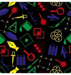 Computer graphics symbols dark color seamless vector