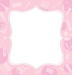 Cosmetic equipments border vector
