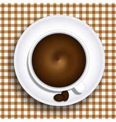 Cups of coffee vector image
