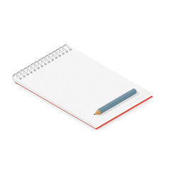 Detailed notebook isometric vector image