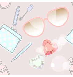 Fashion accessories and cosmetics vector image vector image
