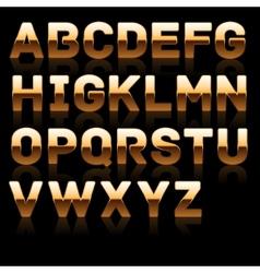 Golden bold characters set 1 vector