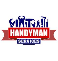 Handyman services design for your logo or emblem vector
