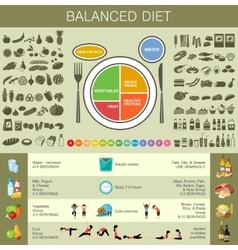 Healthy eating infographic vector image vector image